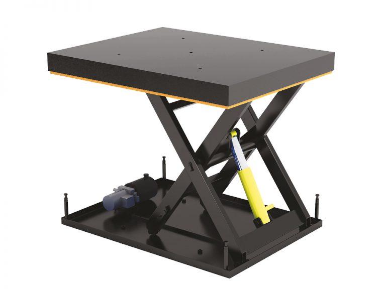 Стол подъемный с одной парой ножниц