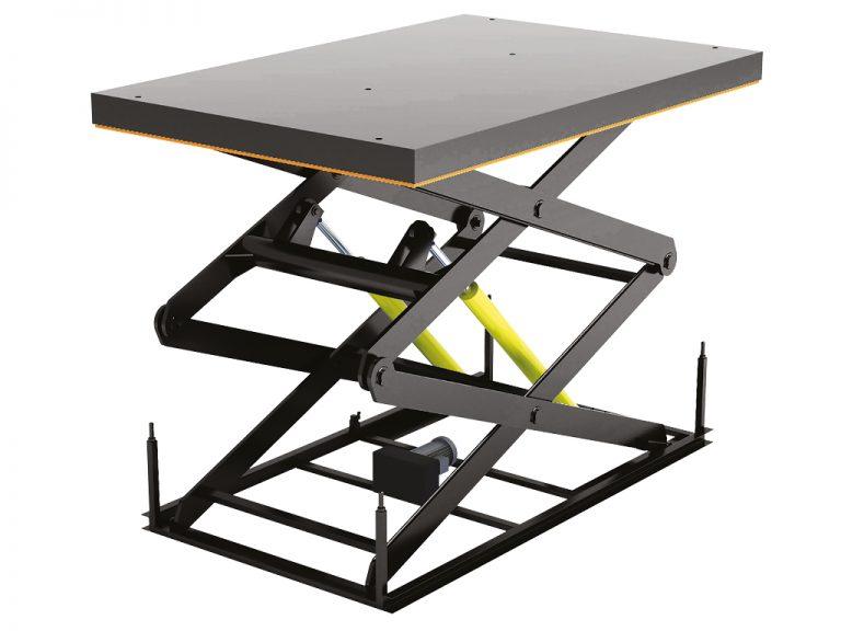 Стол подъемный с двумя парами ножниц