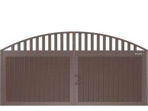 Щит арочный с решеткой с вертикальным расположением сэндвич-панелей